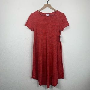 LuLaRoe Carly Red Dress Size XXS